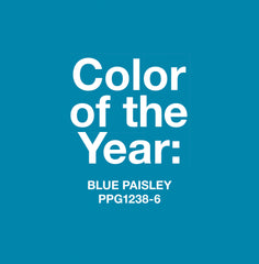 How to Decorate with Blue Paisley Color of the Year