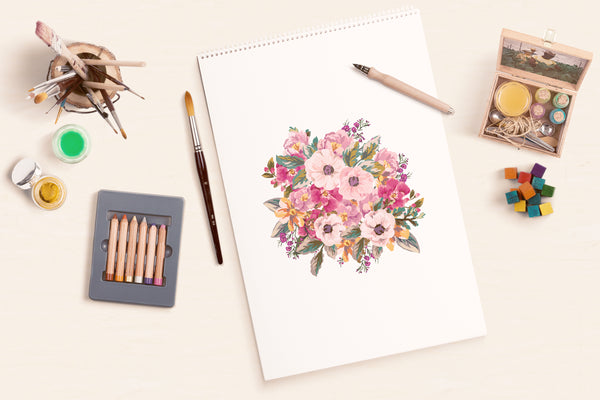 Flower illustration by ColorBee Creative