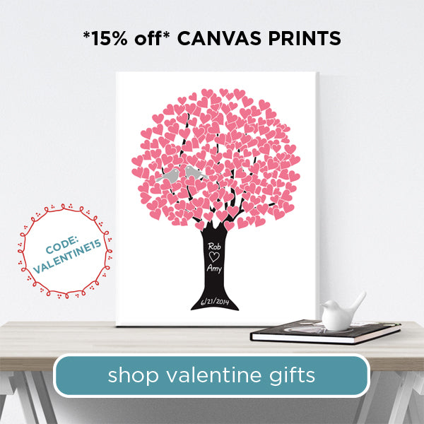 Customized Canvas Prints for Valentine's Day