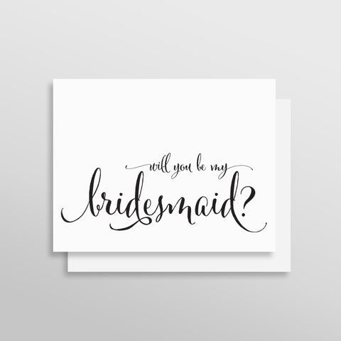 Will You Be My Bridesmaid Card - Fanciful Style by Printfully