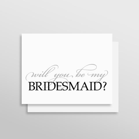 Will You Be My Bridesmaid Card - Luxe Style by Printfully