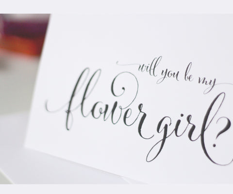 Will You Be My Flower Girl Card - Fanciful Style by Printfully
