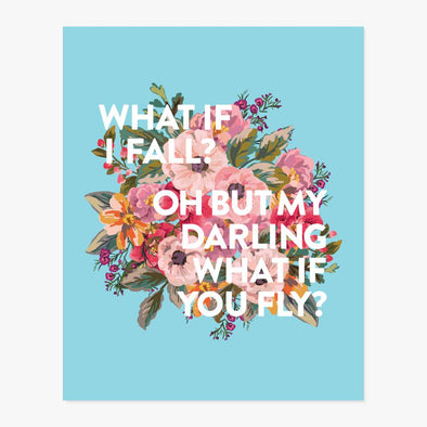What If I Fall? Art Print