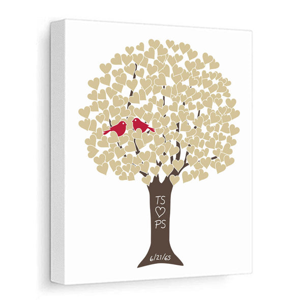 Anniversary Tree (Gold, Red, Brown) Personalized Canvas