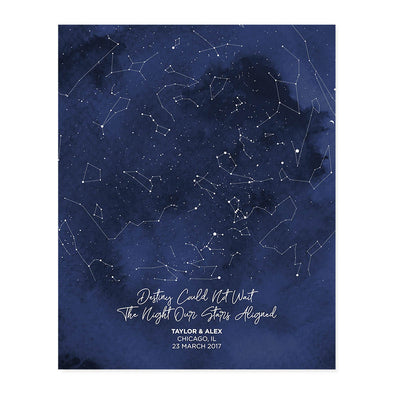 Star Map Personalized Art Print