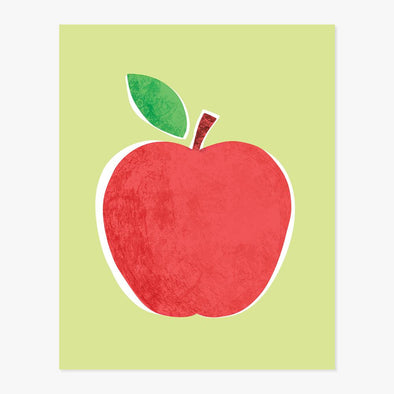 Big Red Apple Art Print