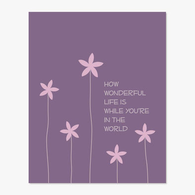 How Wonderful Art Print (Purple)