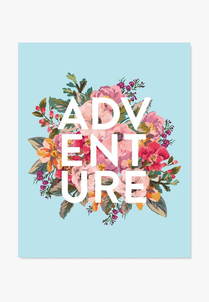 Art Print: Adventure Art Print by Color And Flair Color And Flair