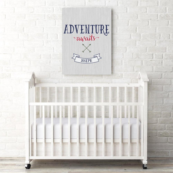 Adventure Awaits Personalized Canvas