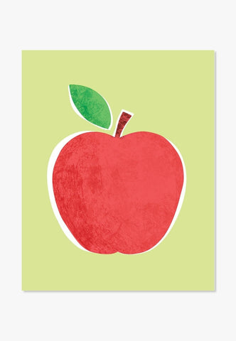 Art Print: Big Red Apple Art Print by ColorBee Creative Color And Flair