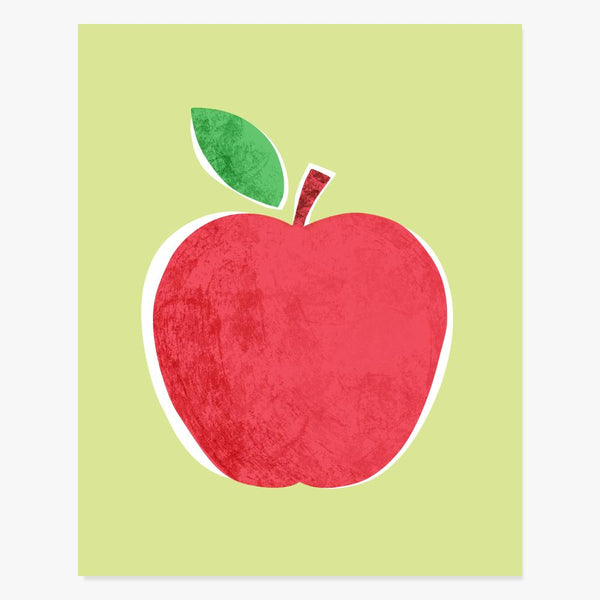 Art Print: Big Red Apple Art Print by Color And Flair Color And Flair