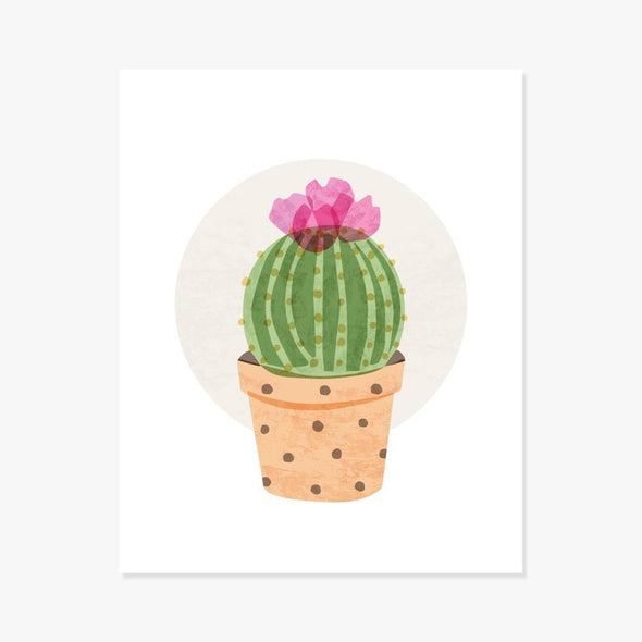 Ball Cactus Art Print Art Print by ColorBee Creative