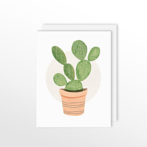 Cute Cacti Card - Prickly Pear Cactus