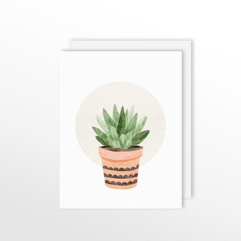 Cute Cacti Card - Small Succulent Stationery by ColorBee Creative Color And Flair