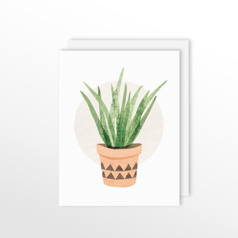 Cute Cacti Card - Tall Succulent Stationery by ColorBee Creative Color And Flair