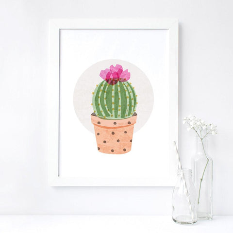 Art Print: Ball Cactus Art Print by Color And Flair Color And Flair