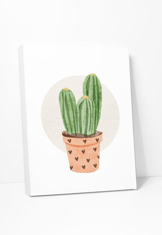 Canvas Print: Column Cactus Gallery Wrapped Canvas by ColorBee Creative Color And Flair