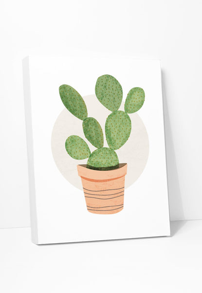 Canvas Print: Prickly Pear Cactus Gallery Wrapped Canvas by ColorBee Creative Color And Flair