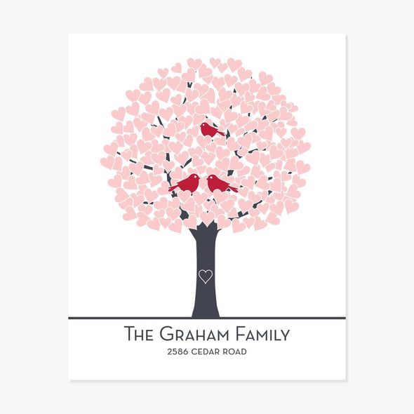 Family Tree Personalized Art Print Art Print by ColorBee Creative