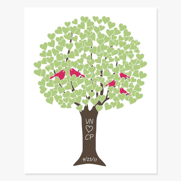 Family Love Tree Art Print (Custom Colors) Art Print by Color And Flair Color And Flair