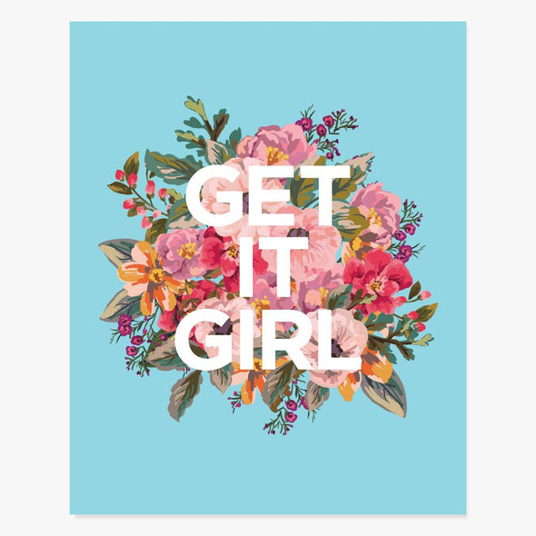 Get It Girl Art Print Art Print by ColorBee Creative