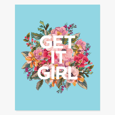 Art Print: Get It Girl Art Print by Color And Flair Color And Flair