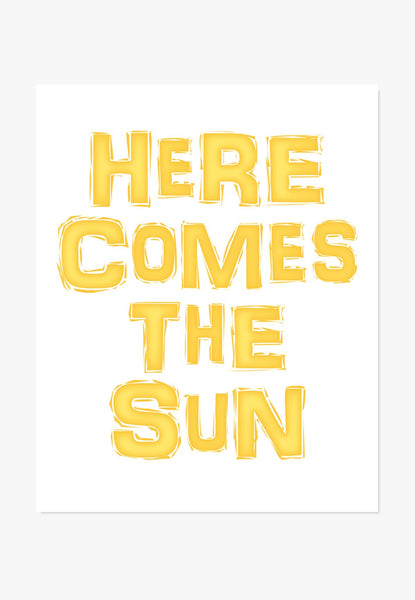 Art Print: Here Comes The Sun Art Print by Color And Flair Color And Flair