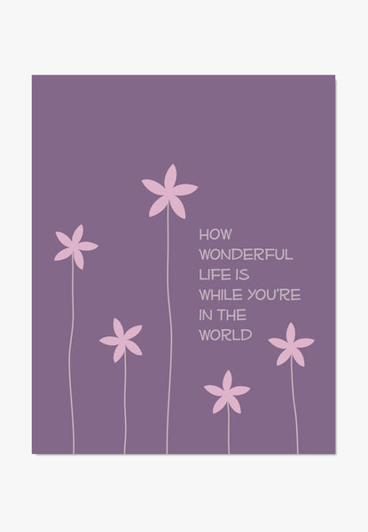 Art Print: How Wonderful (Purple) Art Print by Color And Flair Color And Flair