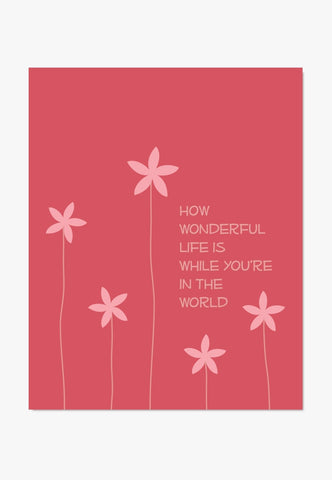 Art Print How Wonderful Life Is - Elton John