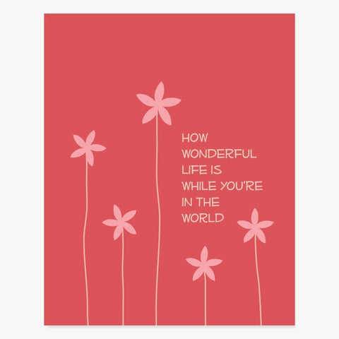 Art Print: How Wonderful (Red) Art Print by Color And Flair Color And Flair