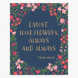 Art Print: I Must Have Flowers Art Print by Color And Flair Color And Flair