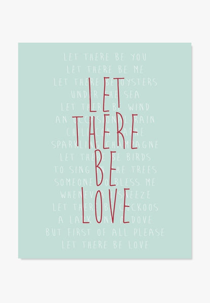 Art Print: Let There Be Love Art Print by Color And Flair Color And Flair