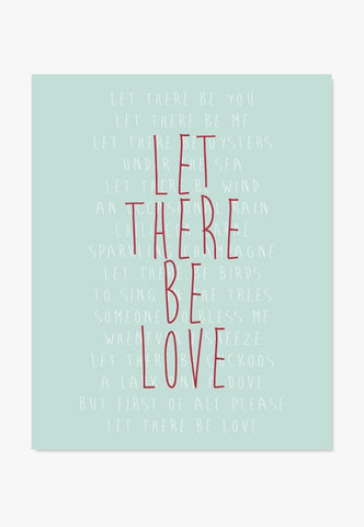 Let There Be Love song lyrics art print by ColorBee Creative