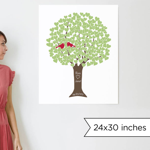 Anniversary Tree Personalized Art Print (Green)