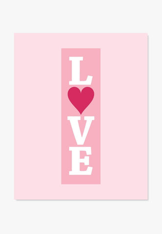 Art Print: LOVE (Butterscotch, Blue or Pink) Art Print by ColorBee Creative Color And Flair