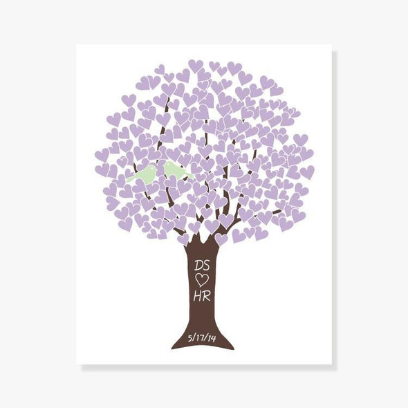 Anniversary Tree Personalized Art Print (Pink, Lilac or Blue)