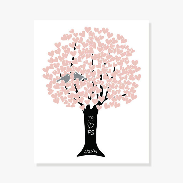 Personalized Love Tree<br/>Custom Colors Art Print by ColorBee Creative Color And Flair