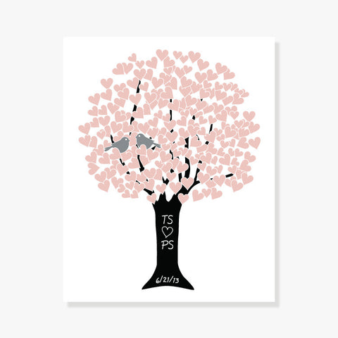 Personalized Love Tree (Customize Your Colors) Art Print by Color And Flair Color And Flair
