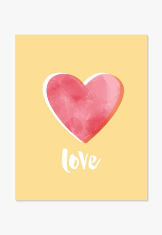 Art Print: Love | Color And Flair | Yellow Red Pink