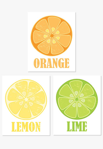Art Print: Orange Lemon Lime Art Print by ColorBee Creative Color And Flair