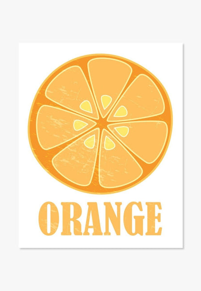 kitchen wall art - Orange Slice