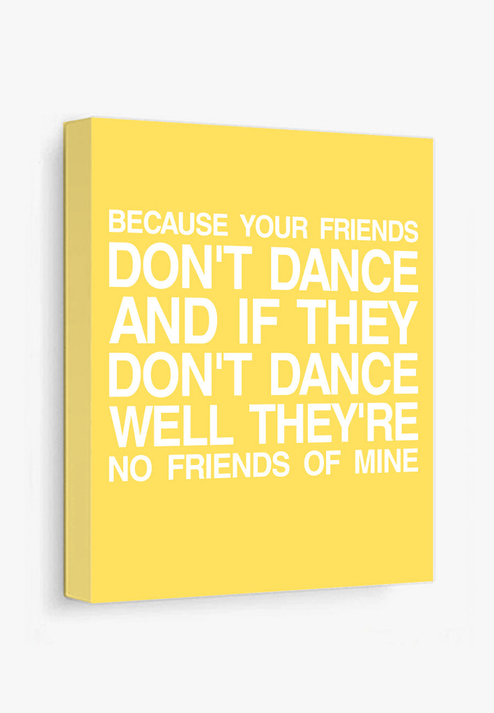 Safety Dance   Typography Poster – Color And Flair
