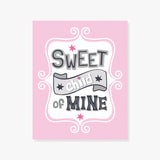 Sweet Child of Mine | Typography Poster in Pink