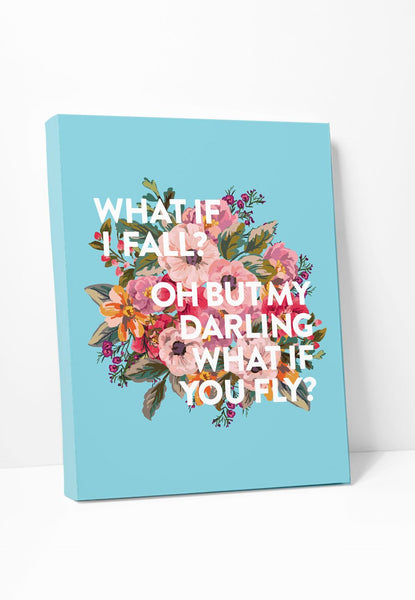 Canvas Print: What If I Fall? Gallery Wrapped Canvas by ColorBee Creative Color And Flair