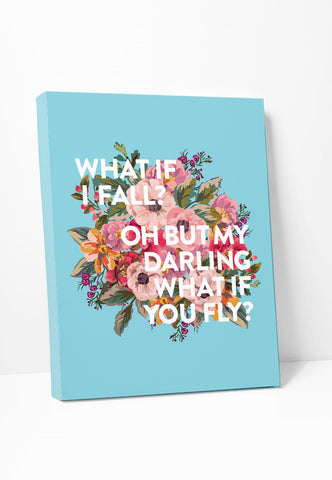 Canvas Print: What If I Fall?