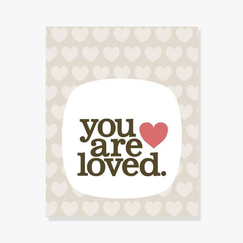 You Are Loved | Nursery Art in tan for a gender neutral baby gift