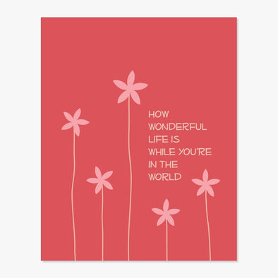 How Wonderful Art Print (Red)
