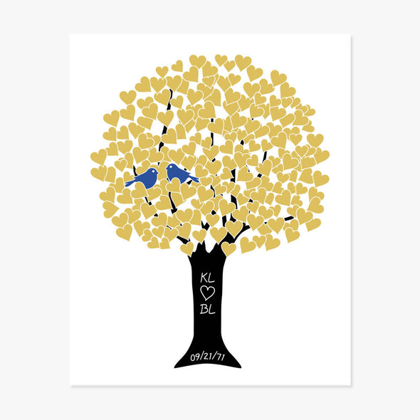 Anniversary Tree Personalized Print (Marigold)