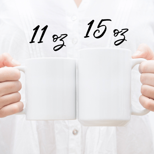 Image of boss lady mug in 2 sizes