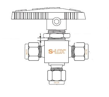 3-Way Switching Valve - 1/2 - Brass - 3000psi - Part #: SBV4-3B-F-8N-BS